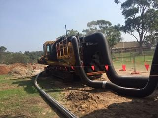 Dust control on trenching work