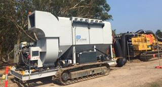 Mobile Dust Collector on Green Civil Project