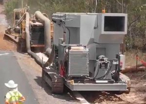 Dust Collector working alongside trencher