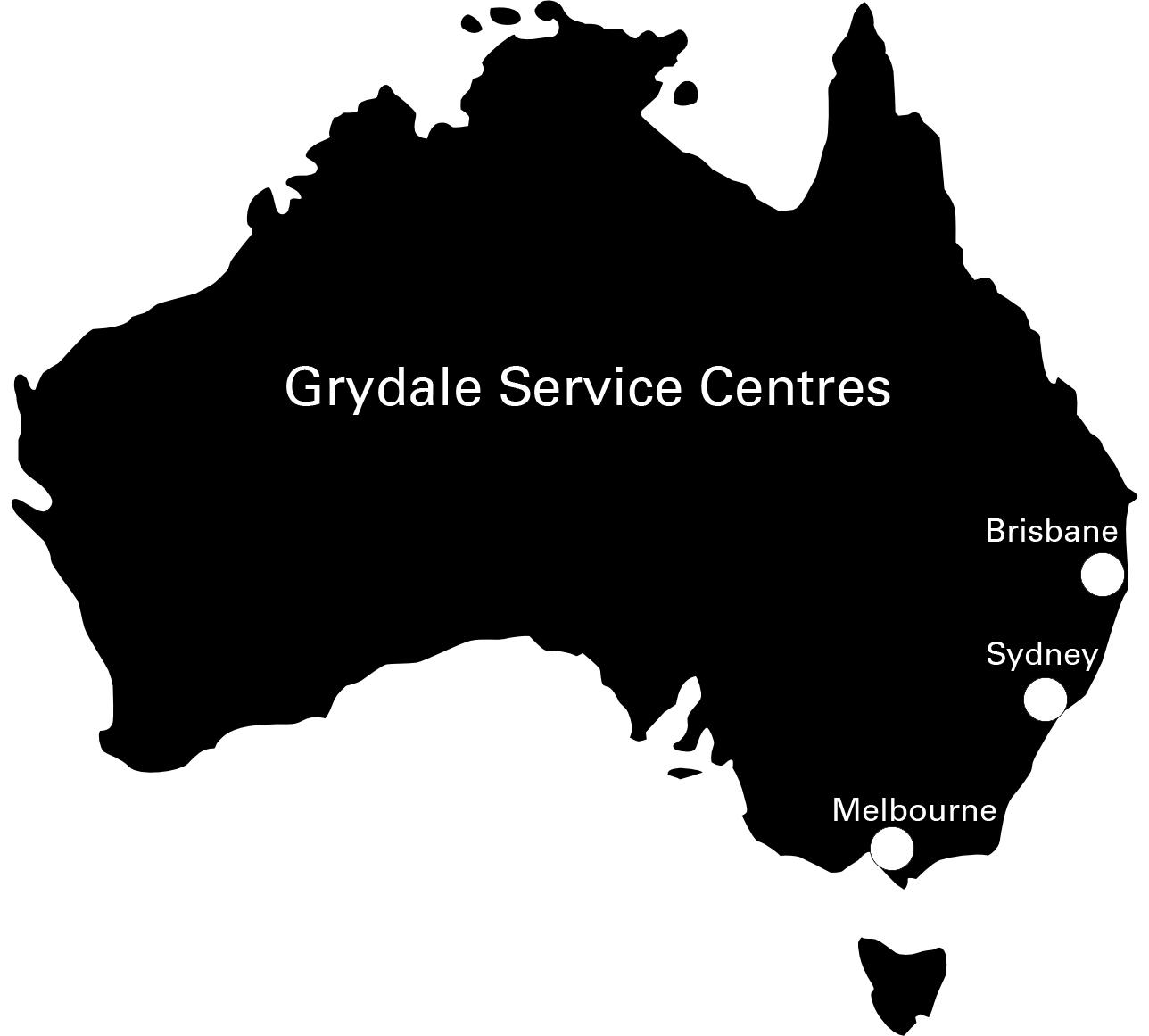map of service centres