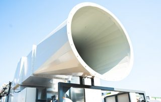 Clean Air Exhaust on JMS 40 Mobile Hybrid Skid Dust Collector