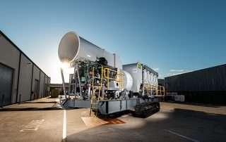 Clean Air Exhaust Mobile Diesel Track Dust Collector JMS 50 MDT