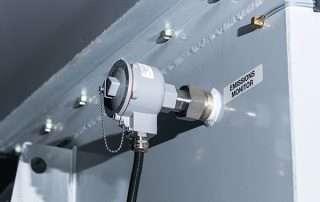Emission Monitor on JMS 30 Mobile Diesel Track Dust Collector
