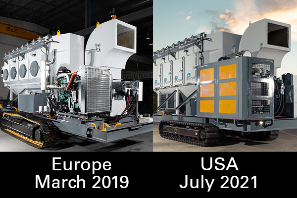 Our JMS 30 MDT is both Europe and USA's first dust collector