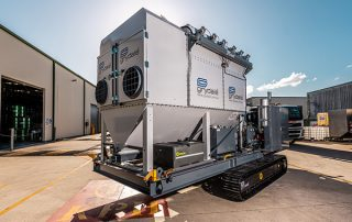 Filter Access Doors on JMS 20 Mobile Diesel Track Dust Collector