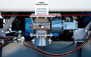 Front Rotary Valve on JMS 40 Mobile Hybrid Skid Dust Collector