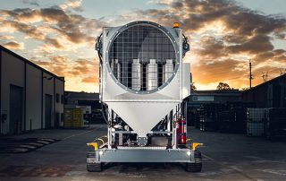 View of the Air intake on JMS 30 Mobile Diesel Track Dust Collector