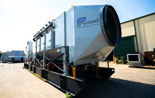 Stepping System on JMS 40 Mobile Hybrid Stepping System Dust Collector