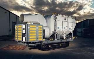 Mobile Diesel Track Dust Collector JMS 10 MDT rear