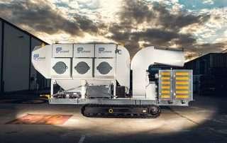 Mobile Diesel Track Dust Collector JMS 10 MDT side