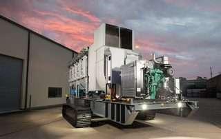 Mobile Diesel Track Dust Collector JMS 50 MDT rear view