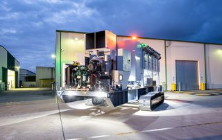 Mobile Diesel Track Dust Collector with lights