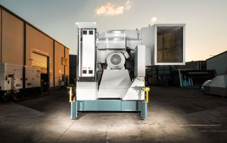 Mobile Electric Drag Skid Dust Collector rear view