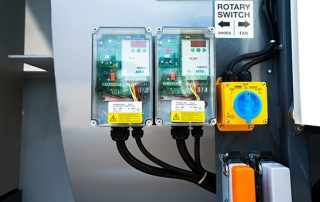 Rotary Switch on JMS 40 Mobile Hybrid Skid Dust Collector