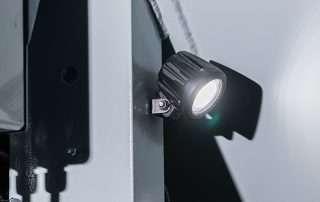 Safety lights on JMS 30 Mobile Diesel Track Dust Collector