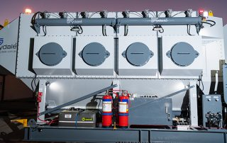 Side Air Intakes on JMS 30 Mobile Diesel Track Dust Collector