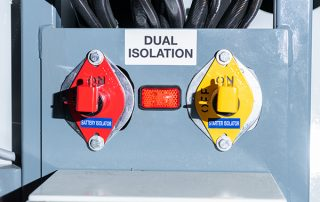 Split Battery & Starter Isolator on JMS 30 Mobile Diesel Tracks Dust Collectors