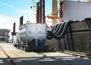 Dust control during ship loading